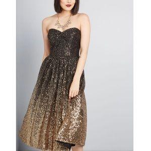 ModCloth x Eliza J Gleaming Gala Sequin Dress